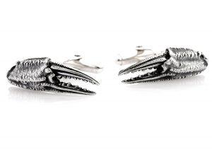 Crab claw cufflinks with swivel backs.