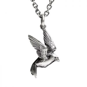 swallow neclace on 20 inch silver chain