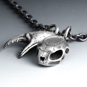 Silver skull and Claw necklace