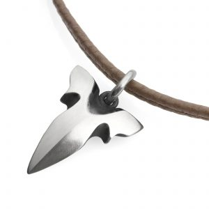 Shark tooth necklace on leather cord