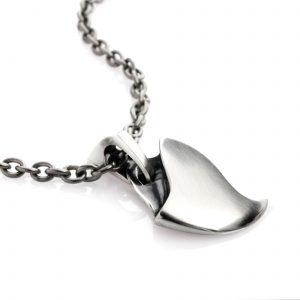 Silver Tiger claw necklace 20 inch titanium chain